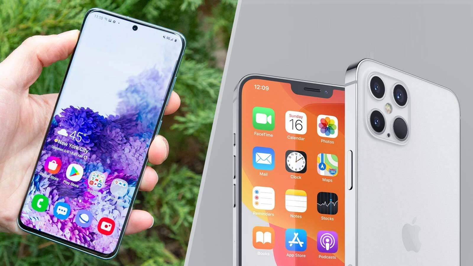 iPhone 12 vs. Samsung Galaxy 20: Which phone wins ...